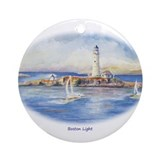 Boston Light Ornament (Round)