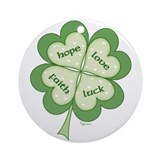 4 Leaf Clover Ornament (Round)