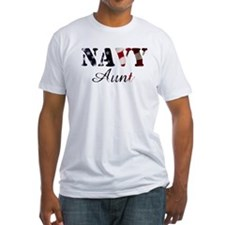 Navy Aunt Flag Shirt