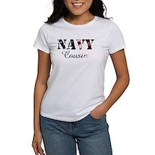Navy Cousin Flag Tee