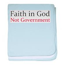 Faith in God baby blanket