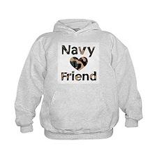 Navy Friend Heart Camo Hoodie
