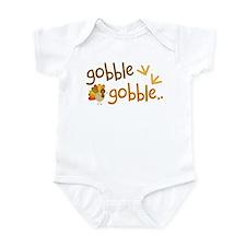 Gobble Turkey Thanksgiving Infant Bodysuit