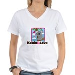 Koala & Love Women's V-Neck T-Shirt