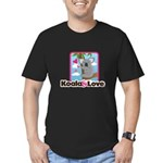 Koala & Love Men's Fitted T-Shirt (dark)
