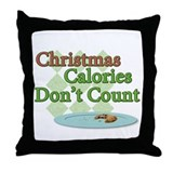 Cute Count calories Throw Pillow