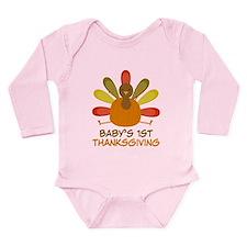 Thanksgiving Turkey Long Sleeve Infant Bodysuit