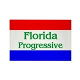 Florida Progressive Rectangle Magnet