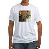 """Wildlife Definition"" Bison Face Men's Fitted Tee"
