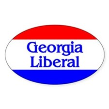 Georgia Liberal Oval Decal