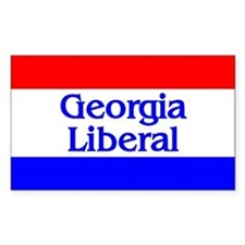 Georgia Liberal Rectangle Decal