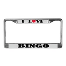 I Love Bingo Retirement License Frame