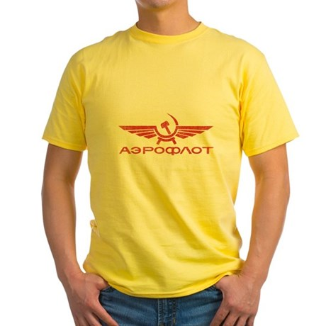 Vintage Aeroflot Yellow T-Shirt