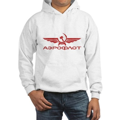 Vintage Aeroflot Hooded Sweatshirt