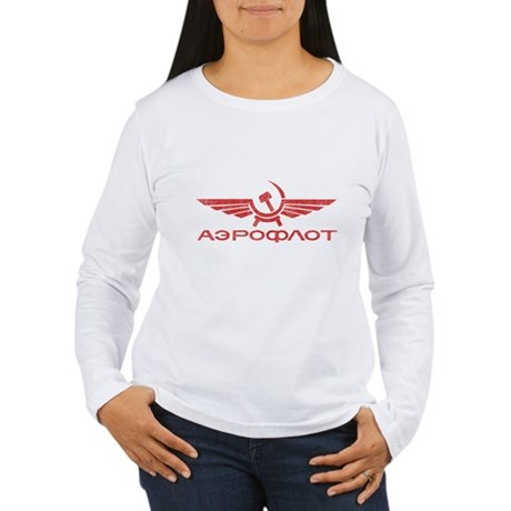 Vintage Aeroflot Womens Long Sleeve T-Shirt