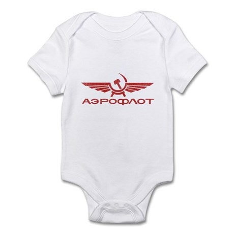 Vintage Aeroflot Infant Bodysuit