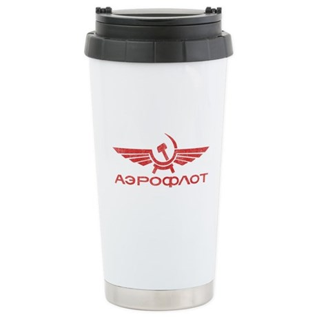 Vintage Aeroflot Ceramic Travel Mug