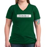 Hope Women's V-Neck Dark T-Shirt