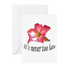 it's never too late birthday Greeting Cards (Pk of