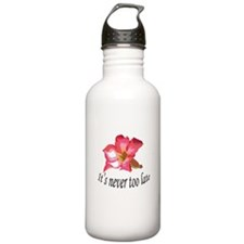 it's never too late birthday Water Bottle