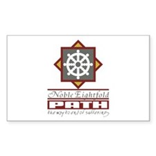 Buddhism Eightfold Path Sticker (Rectangle 10 pk)