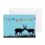 Deers: Merry Christmas Greeting Cards (Pk of 10)