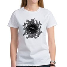 Zebras Women's White T-Shirt