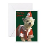 Christmas Westie Greeting Cards (Pk of 20)
