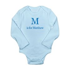 M is for Matthew Long Sleeve Infant Bodysuit