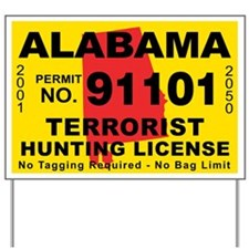 Terrorist hunting license gifts merchandise terrorist for Alabama outdoors fishing license