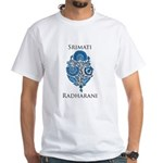 Blue Radharani White T-Shirt