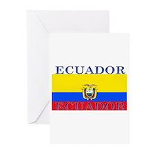 Ecuador Ecuadorian Flag Greeting Cards (Package of