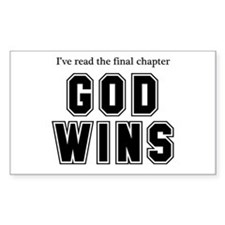 God Wins Stickers