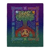 Celtic Tree of Life Throw Blanket
