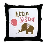 Little Sister - Mod Elephant Throw Pillow