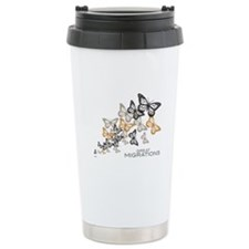 Butterfly Swarm Stainless Steel Travel Mug
