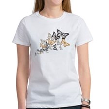 Butterfly Swarm Women's White T-Shirt
