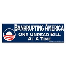 Obama is Bankrupting America Bumper Sticker