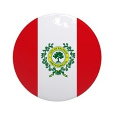 Raleigh Flag Ornament (Round)