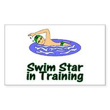 Swim Star in Training Christopher Sticker (Rectang