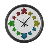 Meeples Large Wall Clock
