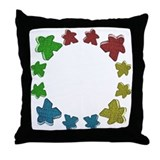 Meeples Throw Pillow