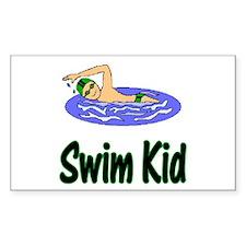 Swim Kid Christopher Rectangle Sticker