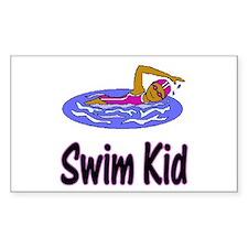 Swim Kid Olivia Rectangle Sticker