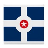 Indianapolis Flag Tile Coaster