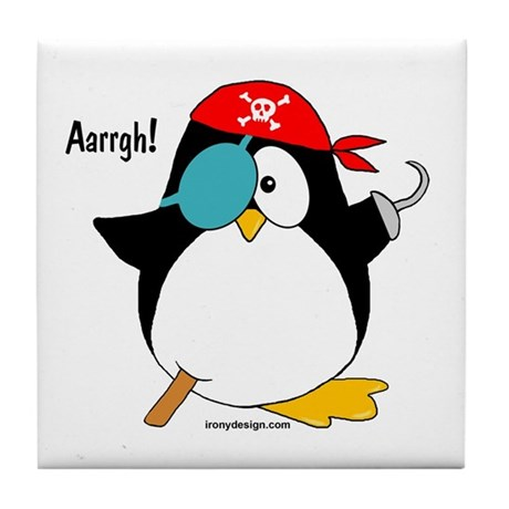 Pirate Penguin Tile Coaster