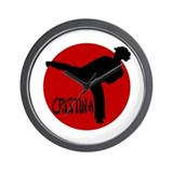 Cristina Karate Wall Clock