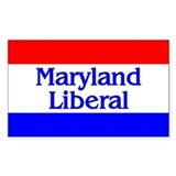 Maryland Liberal Rectangle Decal