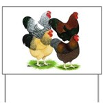 Wyandotte Rooster Assortment Yard Sign