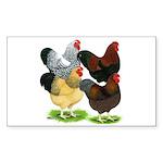 Wyandotte Rooster Assortment Sticker (Rectangle)